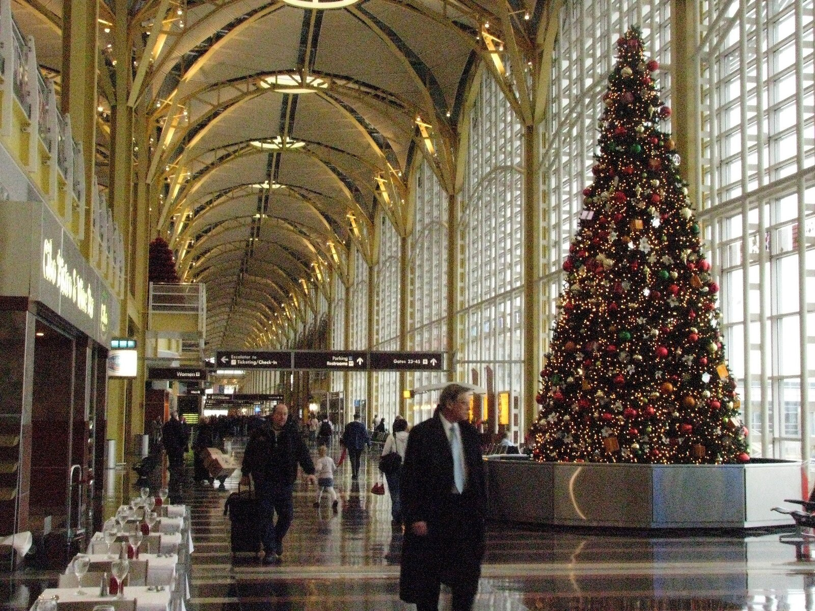 A Christmas tree decks the terminal at National Airport outside of Washington, DC.  Photo 6 of 7 in Home for the Holidays? Here's What You Need to Know About Traveling This Winter