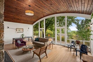 An Architect's Barrel-Vaulted Home in the Hudson Valley Treetops Asks $1.45M