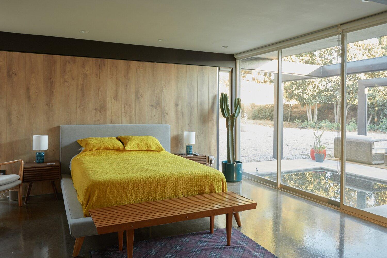 Bedroom in Whittier Midcentury Home