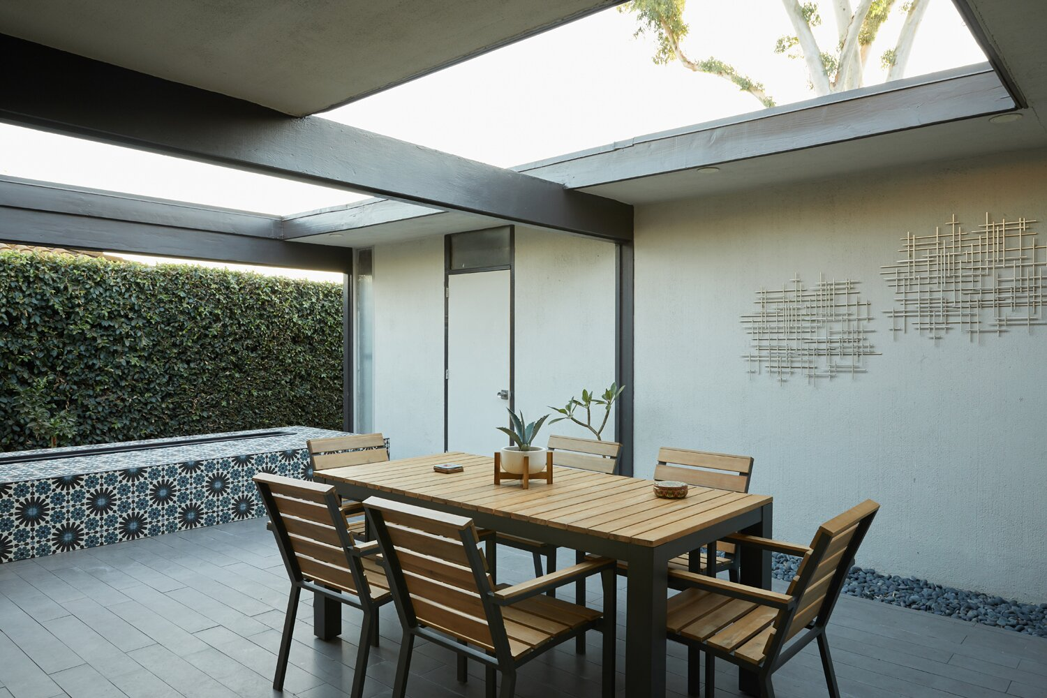Courtyard of Whittier Midcentury Home