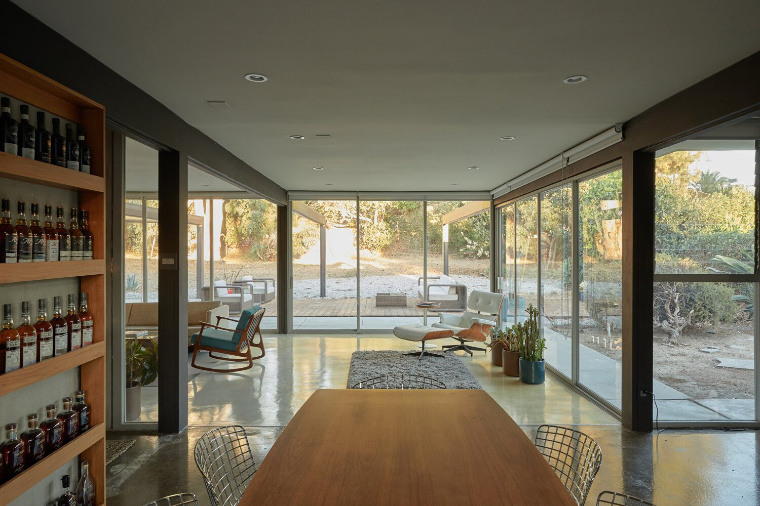 Dining area of Whittier Midcentury Home