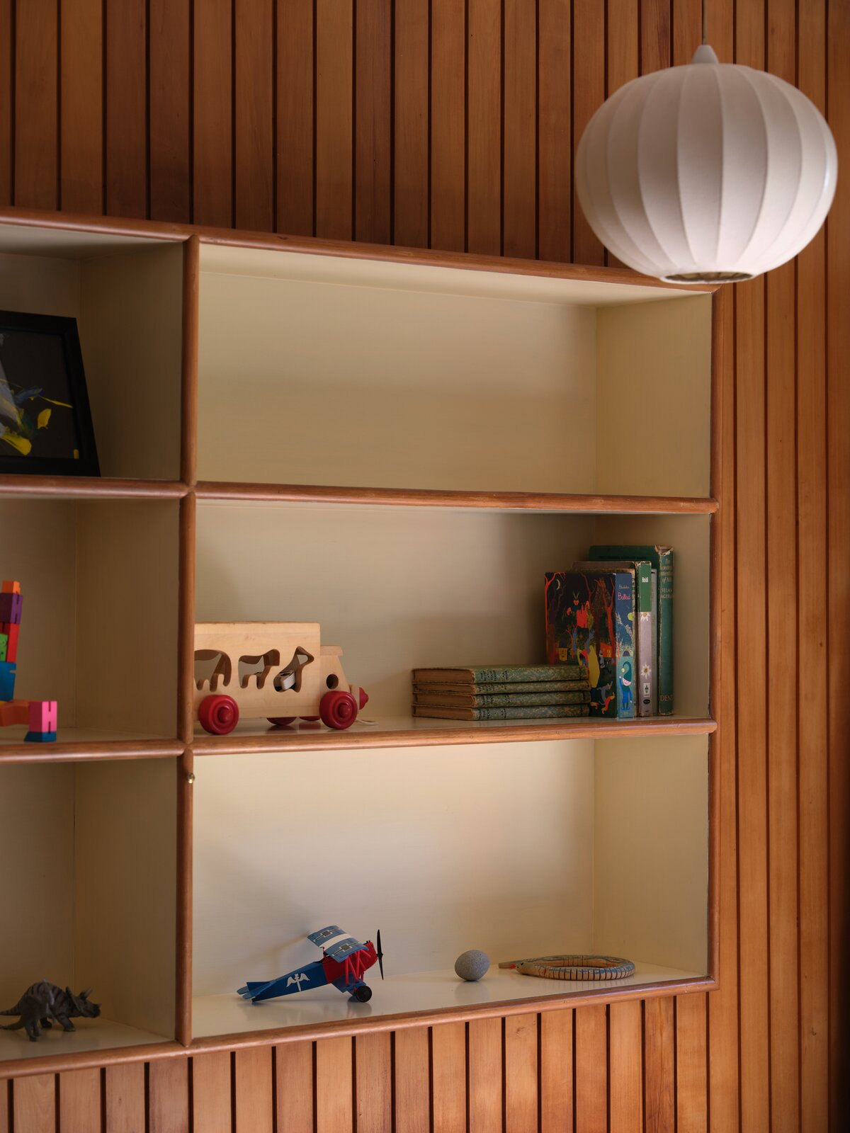 The Fletcher House bookshelf detail
