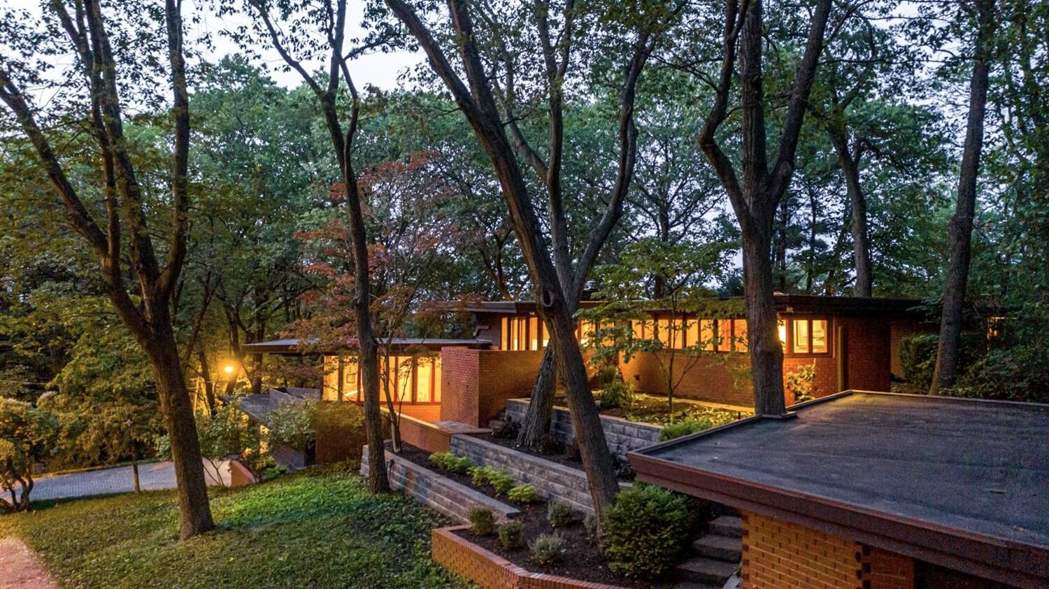 The 1939 Andrew Armstrong House in  Photo 1 of 11 in Frank Lloyd Wright's Dune House Hits the Market for $1.2M