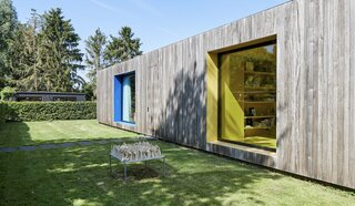 For €795K, You Can Buy This Boxy Belgian Home With a Surprisingly Colorful Interior