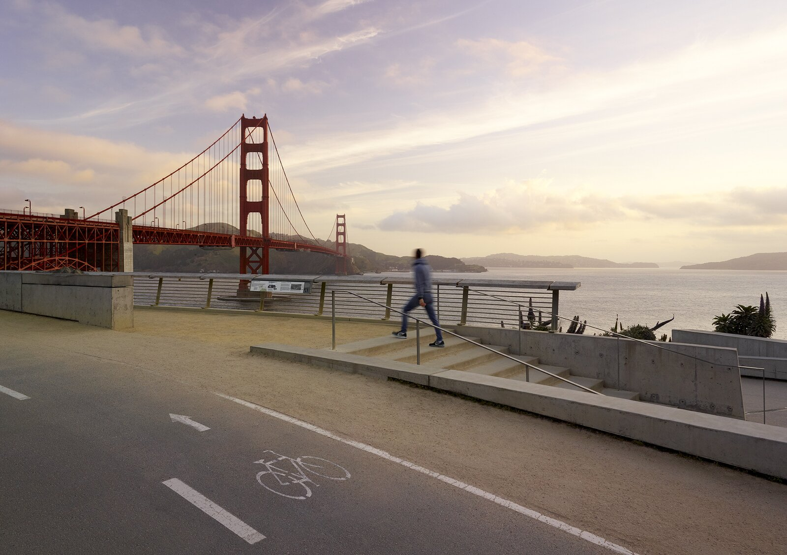 The Fort Point Overlook extended the Golden Gate Bridge Plaza project, one of Surfacedesign's collaborations with Golden Gate National Parks Conservancy.  Photo 8 of 8 in What Happens to Cities When We Are Free to Roam?