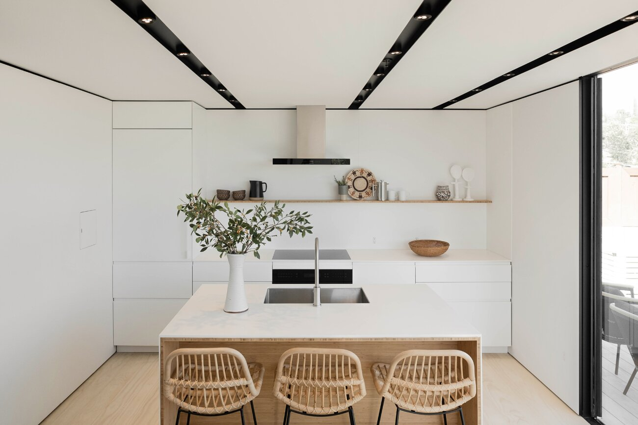 Dining Room of Highland Park Prefab by Cover