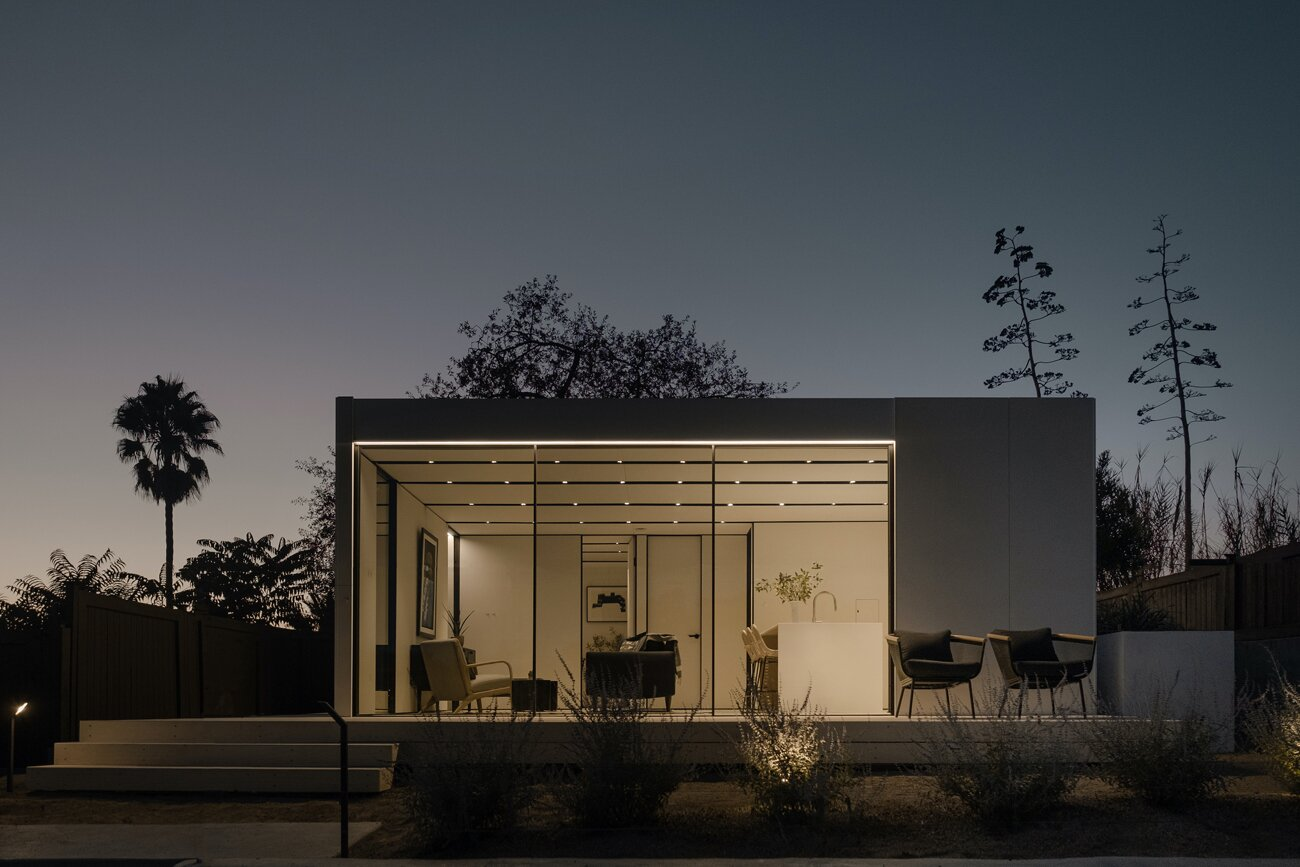 Exterior of Highland Park Prefab by Cover