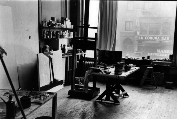 Franz Kline's New York City loft, 1961