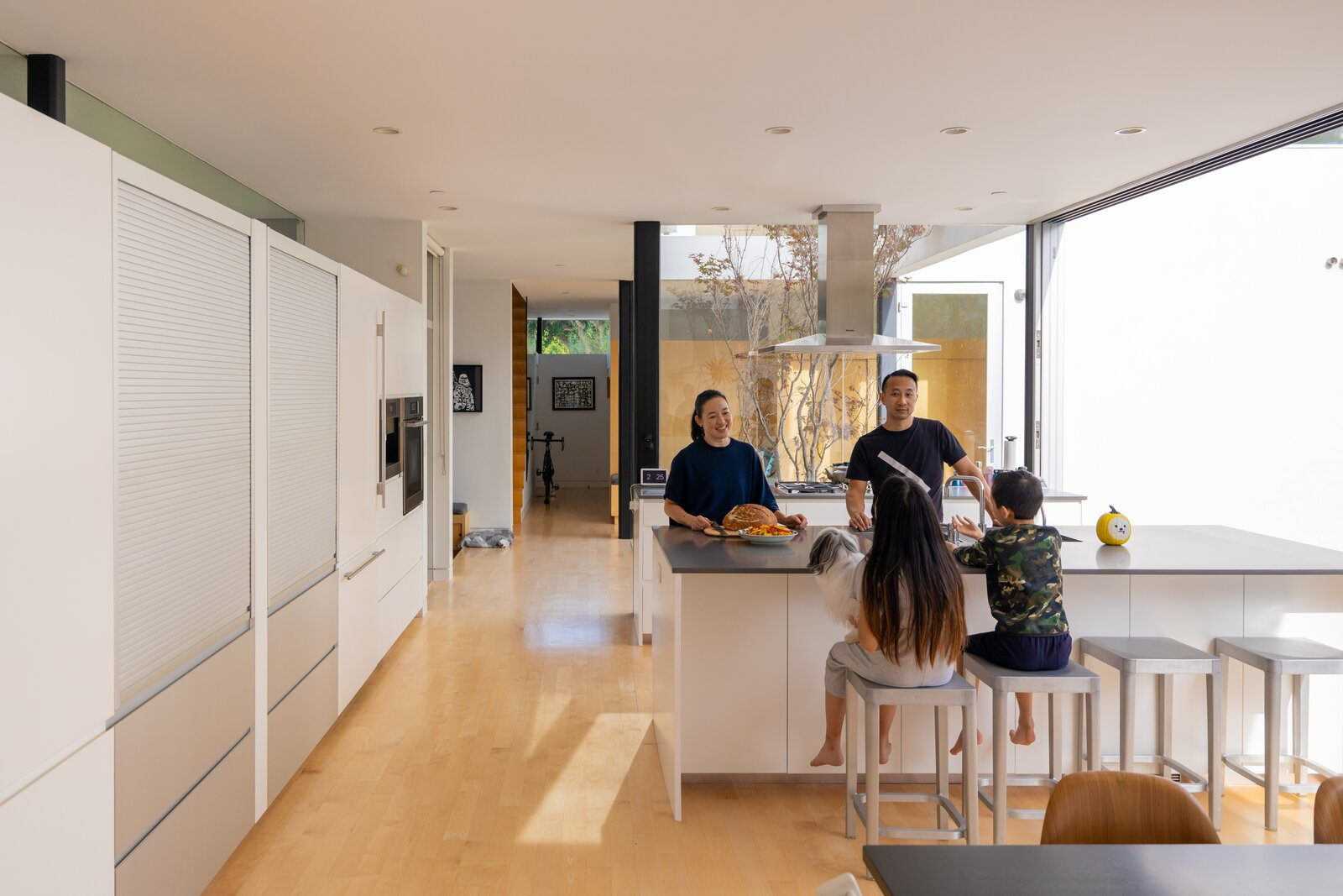 Kitchen of L House by Lee + Mundwiler Architects