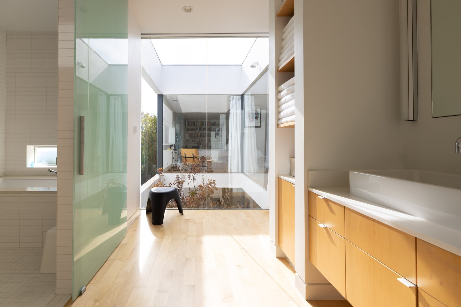 Bathroom of L House by Lee + Mundwiler Architects