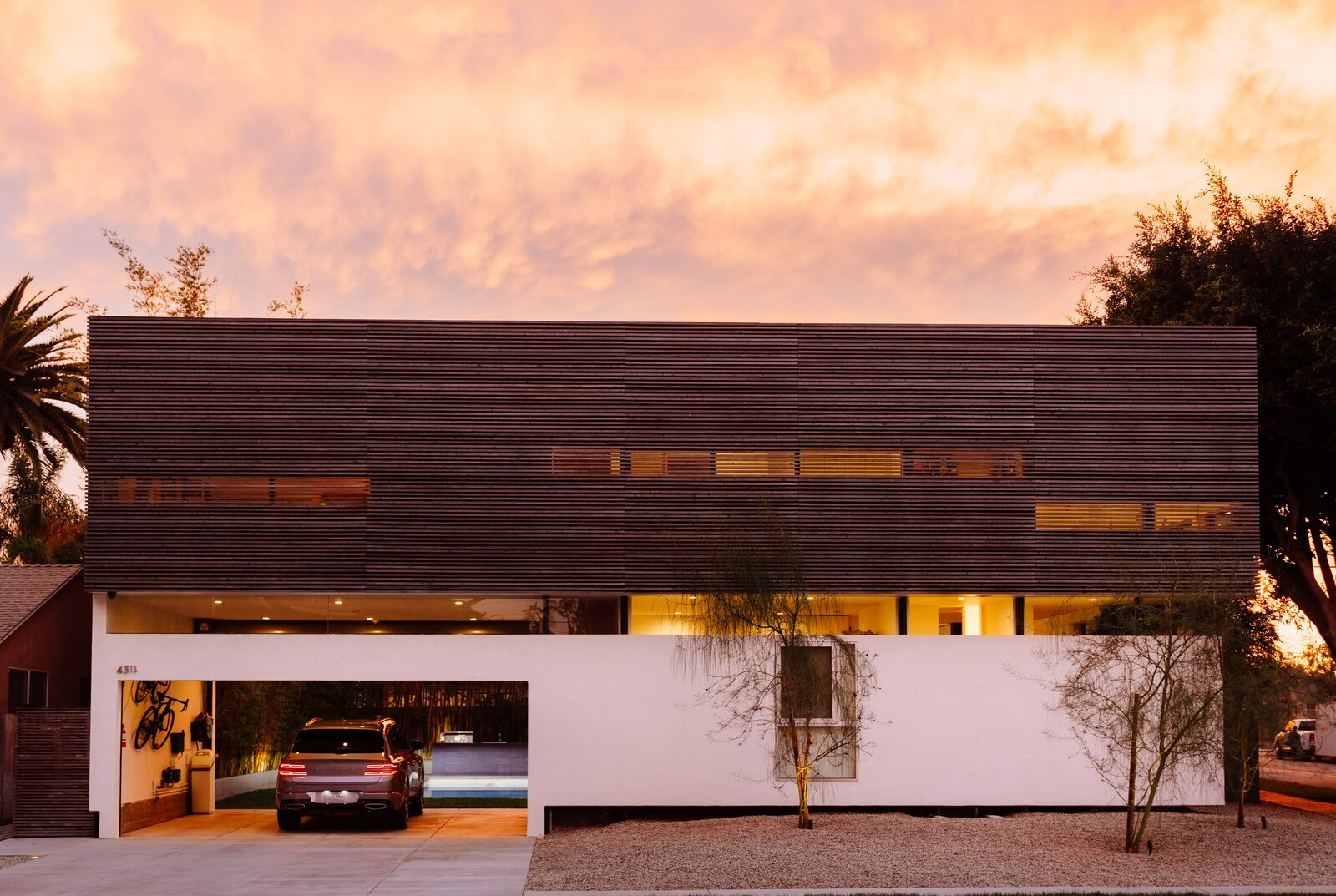 Exterior of L House by Lee + Mundwiler Architects