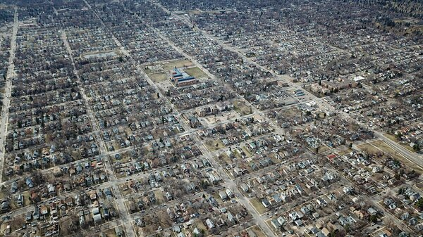 A view of North Minneapolis, where, Ilhan Omar says, nearly half of all renters have experienced eviction in the last year.