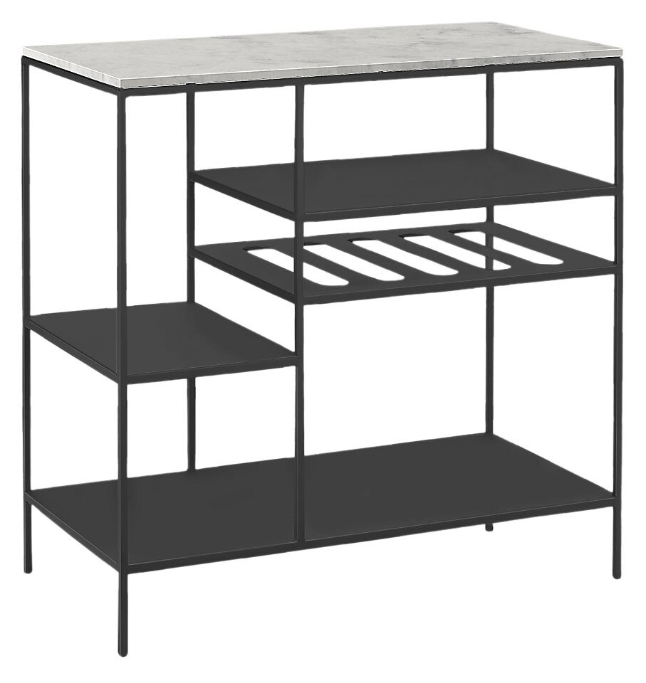 Want to show off your impressive bar setup? Room & Board has you covered with this stylish shelf unit. It comes in 16 base finishes (all welded in Minnesota) and 27 top options, allowing you to concoct a custom look.  Photo 2 of 12 in Made in America: Even Less Than an EKTORP