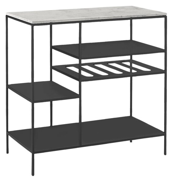 Want to show off your impressive bar setup? Room & Board has you covered with this stylish shelf unit. It comes in 16 base finishes (all welded in Minnesota) and 27 top options, allowing you to concoct a custom look.