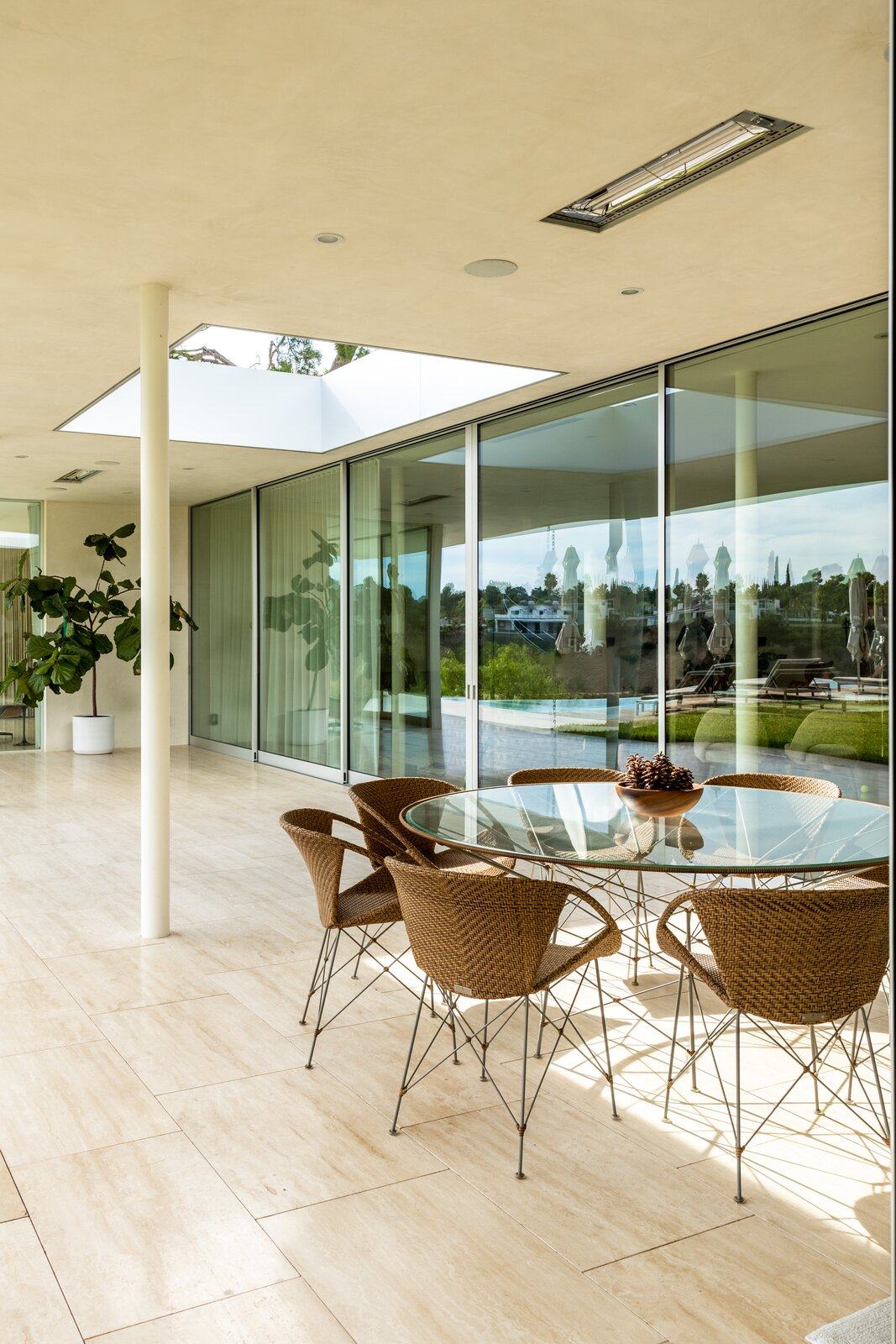 Patio of Clear Oak Residence by Woods & Dangaran Architects