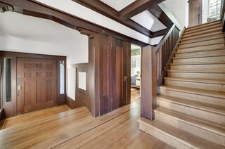A sunken vestibule was added in 1921 to expand the original entryway and stairwell.