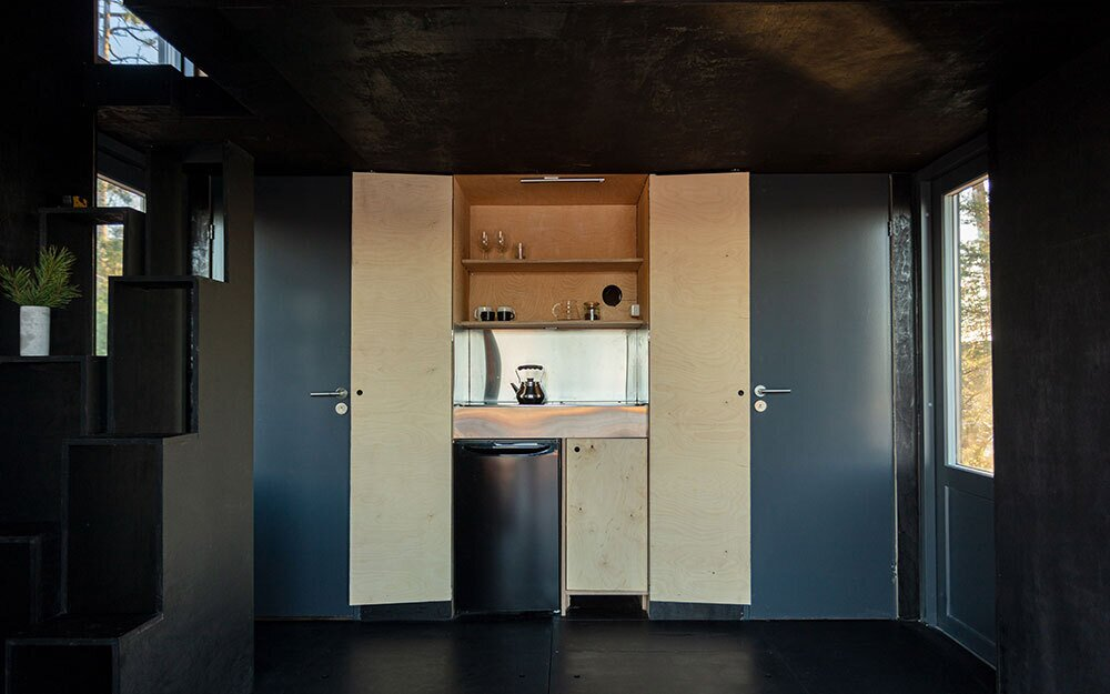 Majamaja Cabin by Littow Architectes kitchen