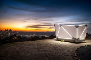 """Prefab Startup Jupe Unveils a $17.5K Flat-Pack Shelter Inspired by """"2001: A Space Odyssey"""""""