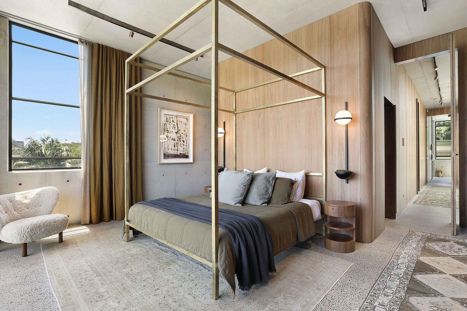 Sydney concrete home bedroom