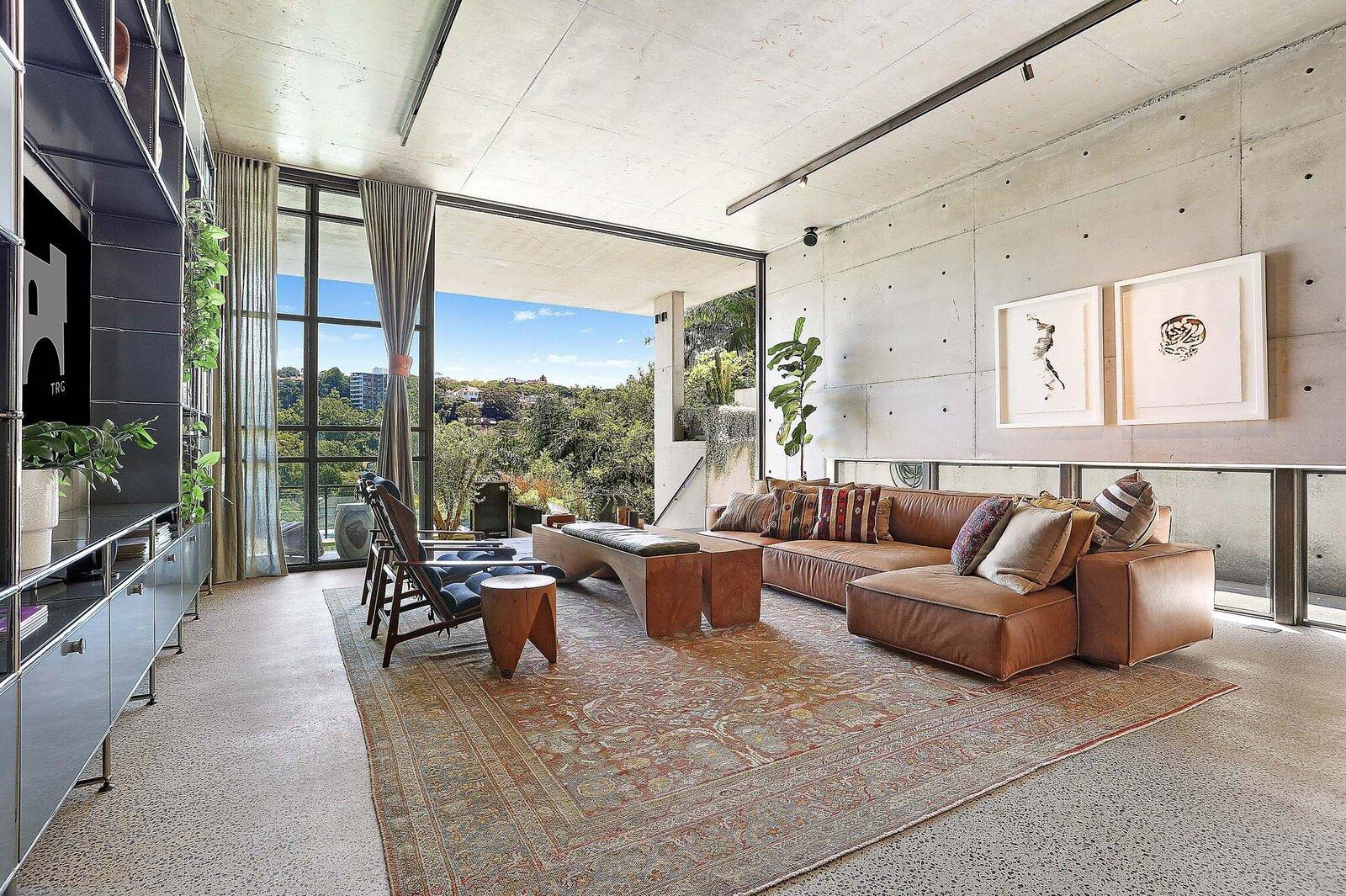 Sydney concrete home living area