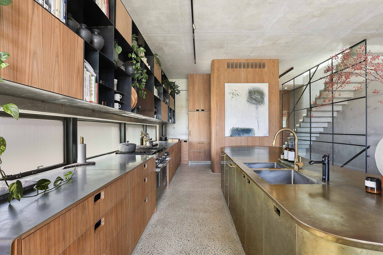 Sydney concrete home kitchen
