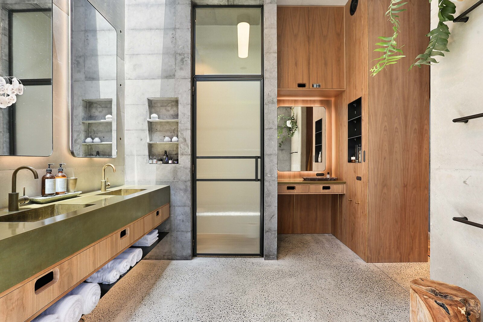 Sydney concrete home bathroom
