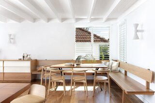 The Solo chairs in the dining area are by Studio Nitzan Cohen.