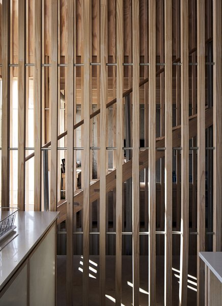 Lattices increase the flow of light and impart a beach-house vibe to the interiors.