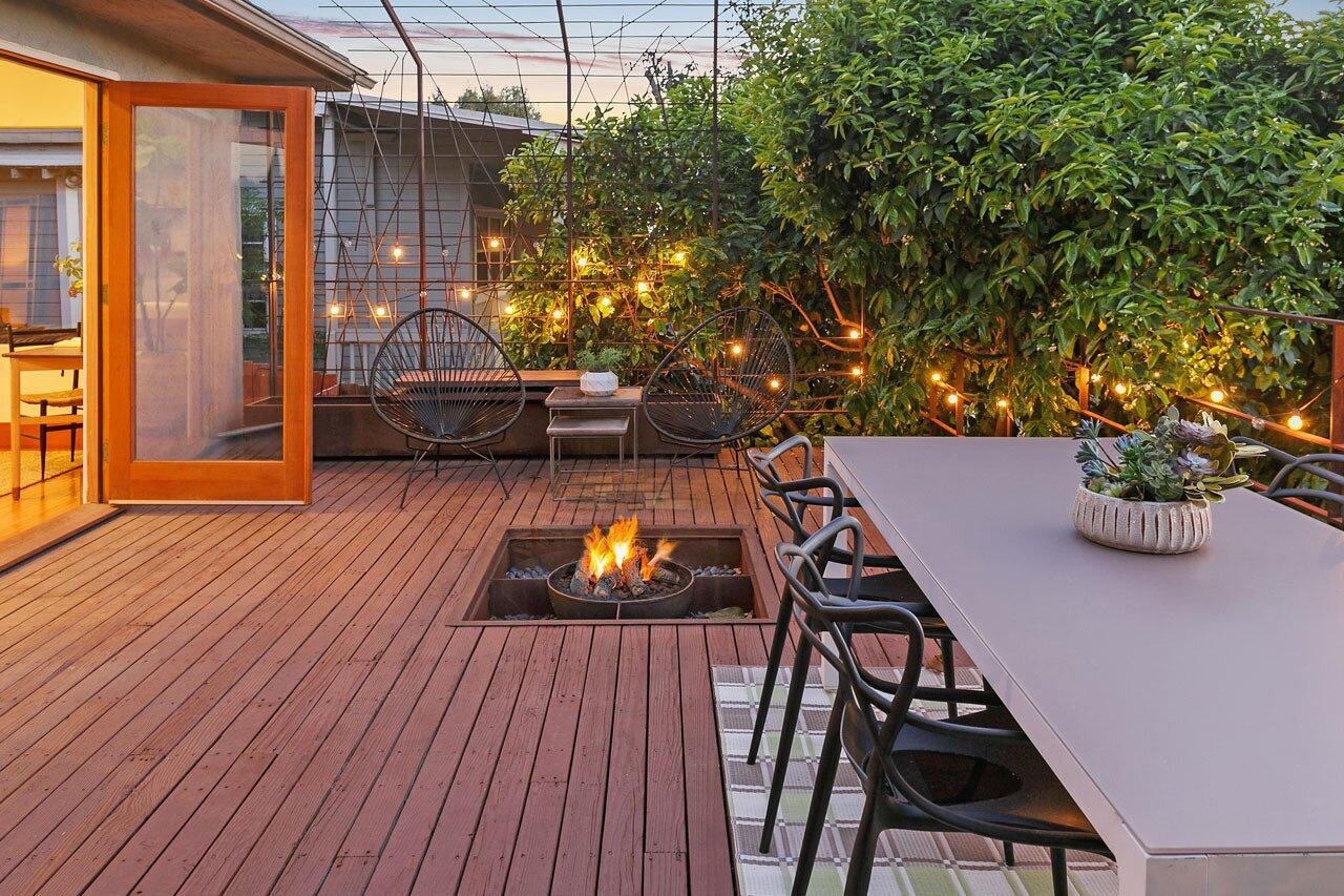 Echo Park real estate terrace lighting