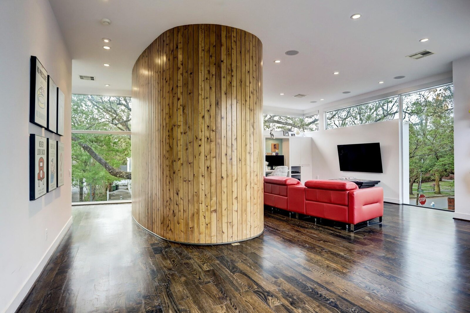 Allen Bianchi Houston home media room