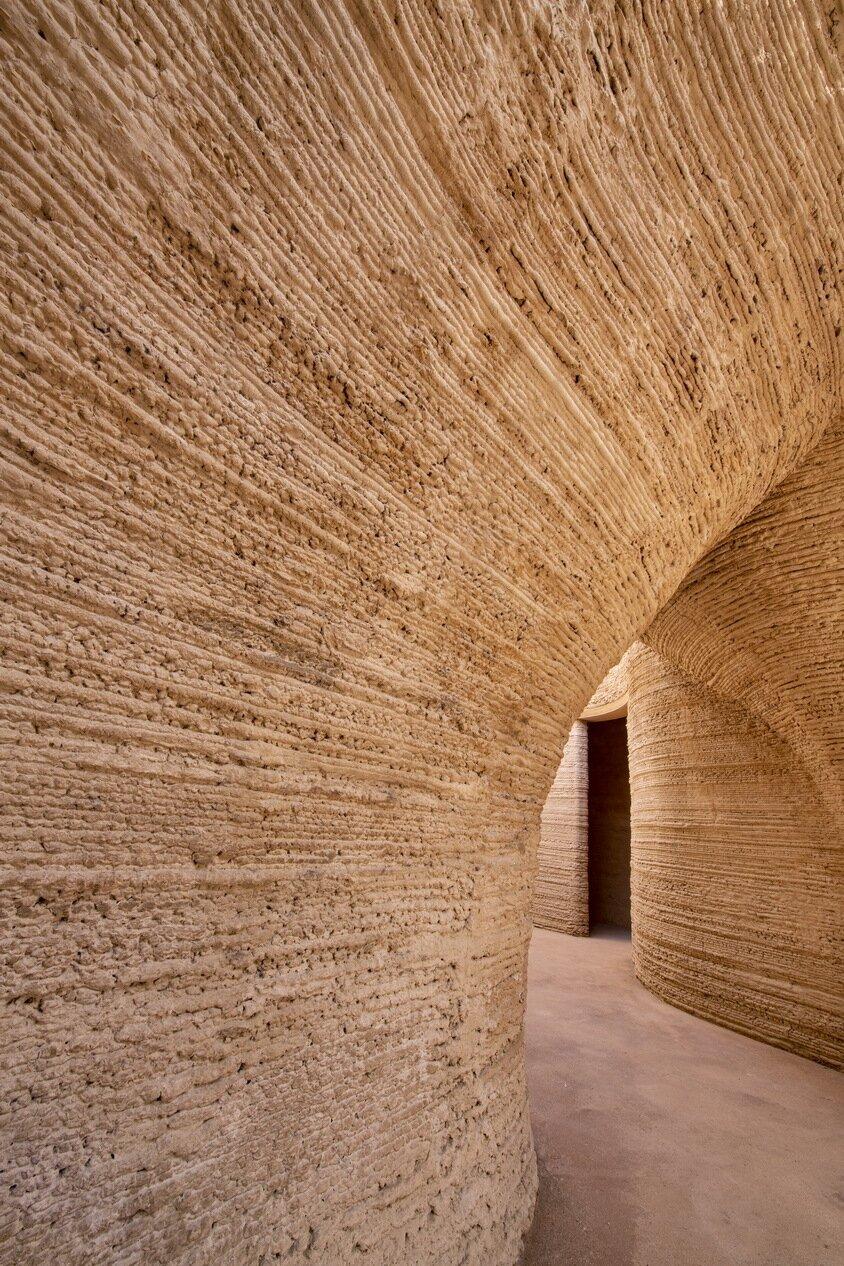 TECLA 3D-printed home Mario Cucinella Architects WASP interior