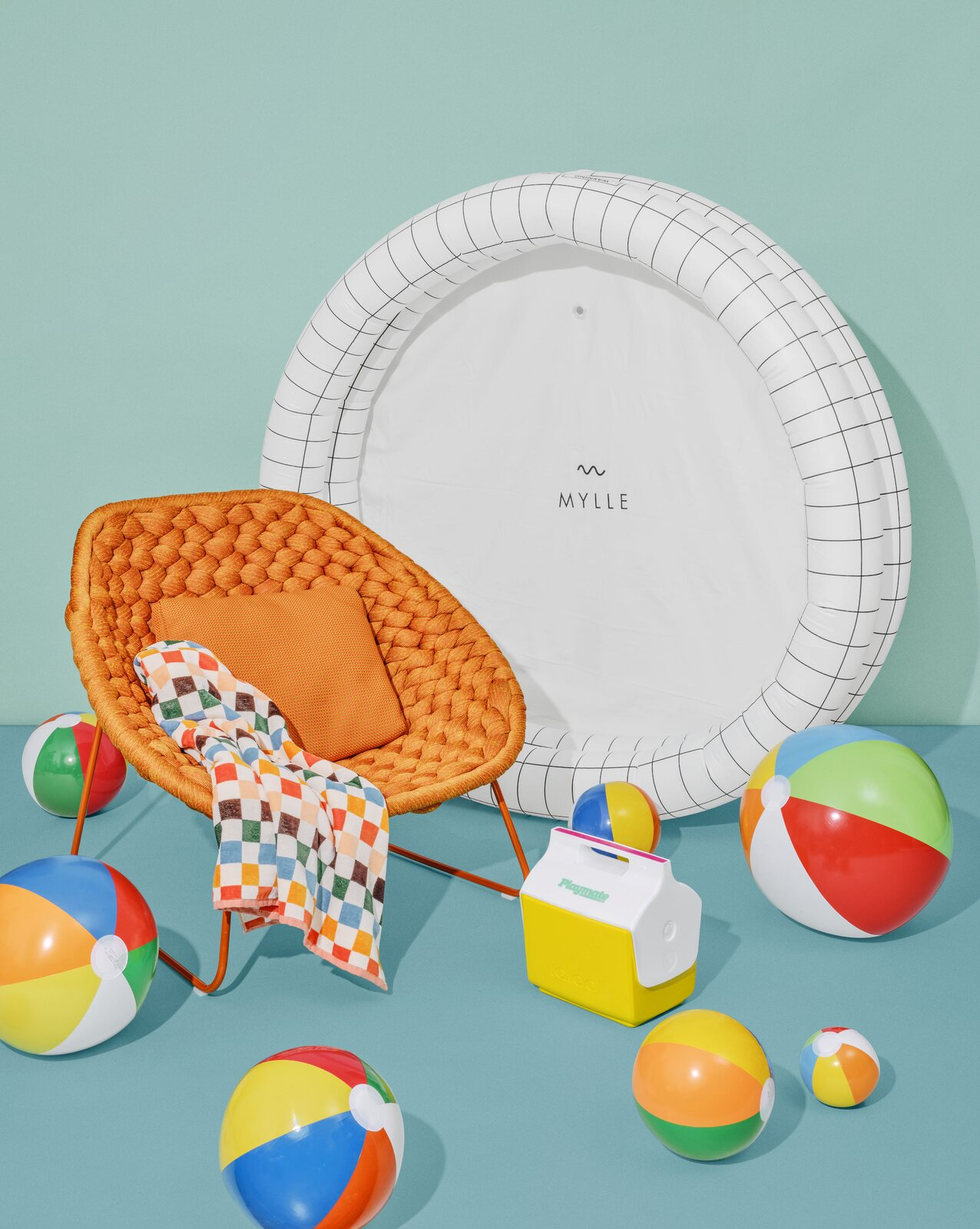 """Float the day away among buoyantly brilliant colors, owning-the-outré patterns, singular shapes, and, for good measure, unapologetically inflatable upholstery.  Search """"inflatable"""" from The Best Outdoor Accessories for Every Kind of Summer Shindig"""