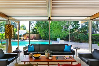 Captivating views of the backyard pool can be seen from various corner in the home.
