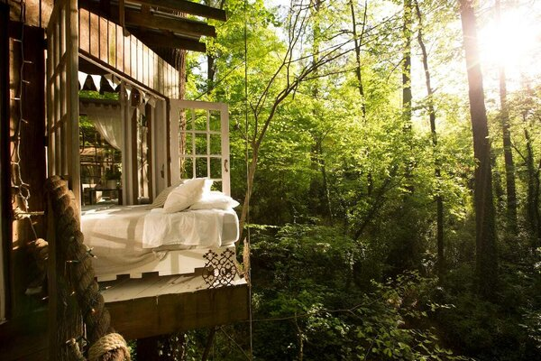This Atlanta treehouse would make even the Ewoks jealous. It consists of three separate rooms—Mind, Body, and Spirit— that are interconnected via rope bridges. Though secluded and seemingly remote, it sits just minutes from town.