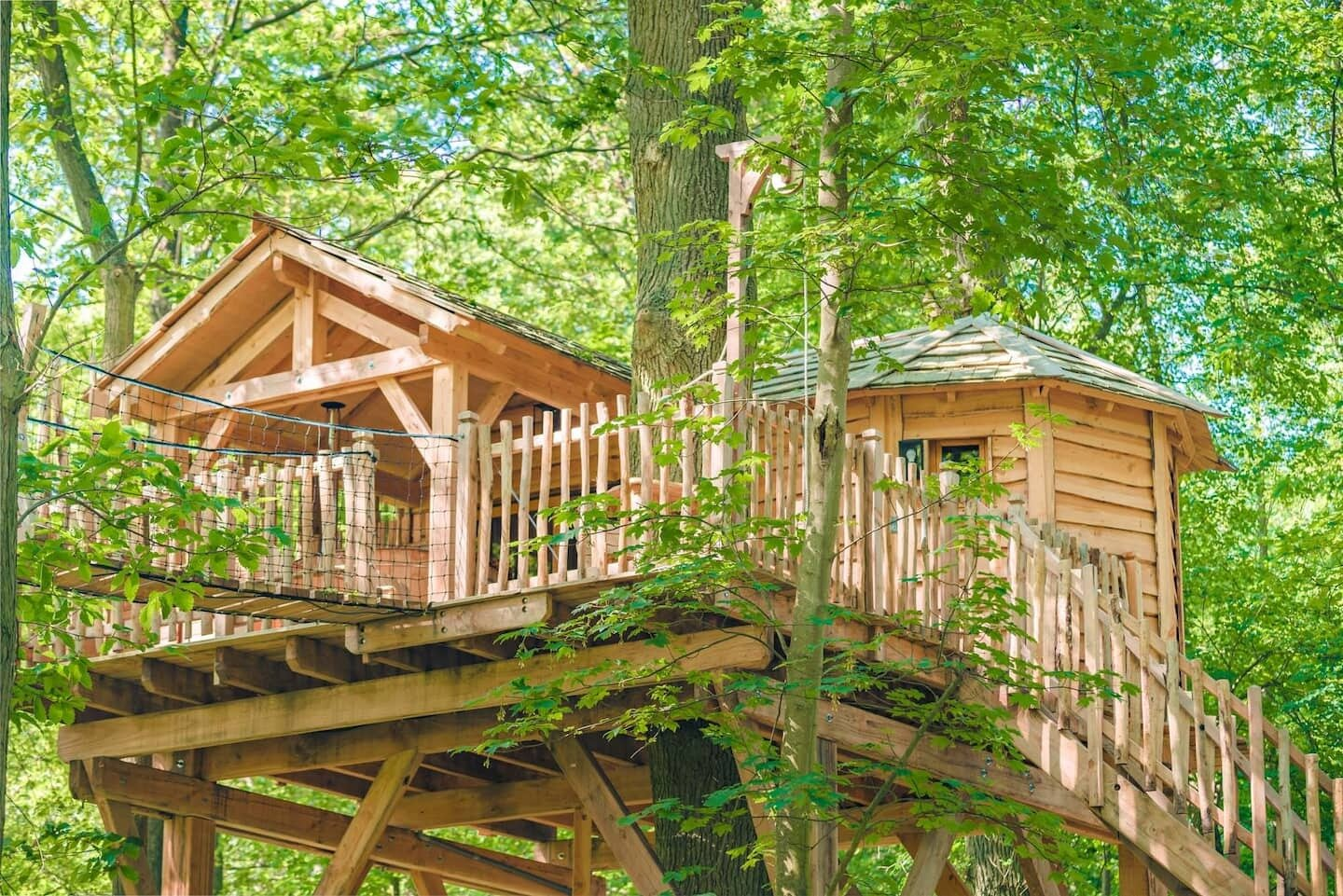 This treehouse is located near a golf course—but with a perch in the forest canopy, a Nordic bath, and a mysterious, hovering sphere, you likely won't be taking to the links.  Photo 9 of 9 in 9 Breathtaking Tree Houses You Can Rent on Airbnb This Summer