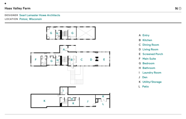 Haas Valley Farm by Searl Lamaster Howe Architects floor plan