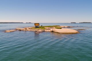 This Tiny Cabin in Maine Comes With an Entire Island for $399K