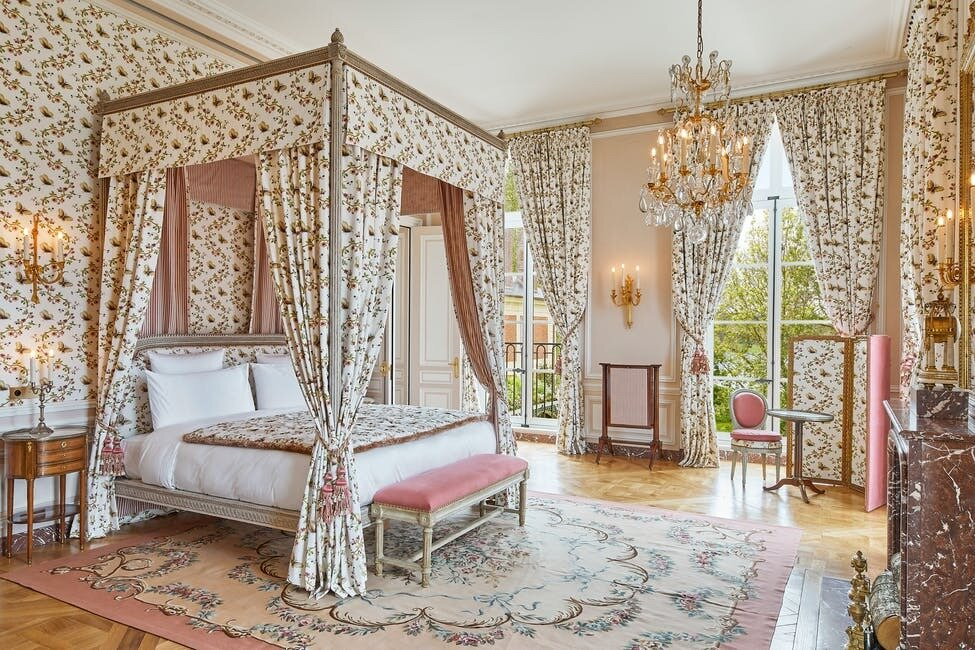 After poring over the Palace's archives, Tollemer found much of his inspiration for the restoration project from Louis XVI's personal style. He also used the nearby Petit Trianon Palace, which Marie Antoinette redecorated in 1788 as a point of reference.  Photo 6 of 11 in The Palace of Versailles Opens a New Hotel Where Guests Can Live Like Royalty