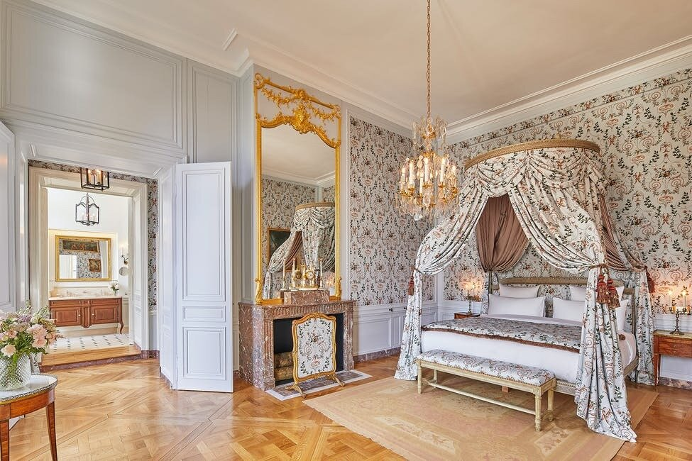 For the renovation, Airelles hired French designer Christophe Tollemer to restore the hotel's interiors, which are scattered across three buildings—all of which date back to 1681.  Photo 5 of 11 in The Palace of Versailles Opens a New Hotel Where Guests Can Live Like Royalty