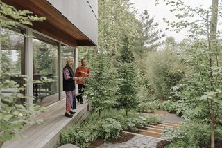 An Architect Downsizes to a Slim Home That Emphasizes the Outdoors and Aging in Place