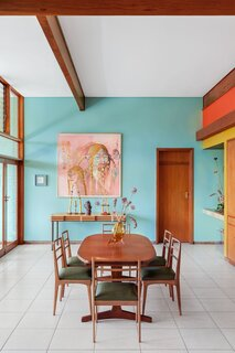 """""""The house is still in its original state. Our job was to bring in some color,"""" says Lezanne."""