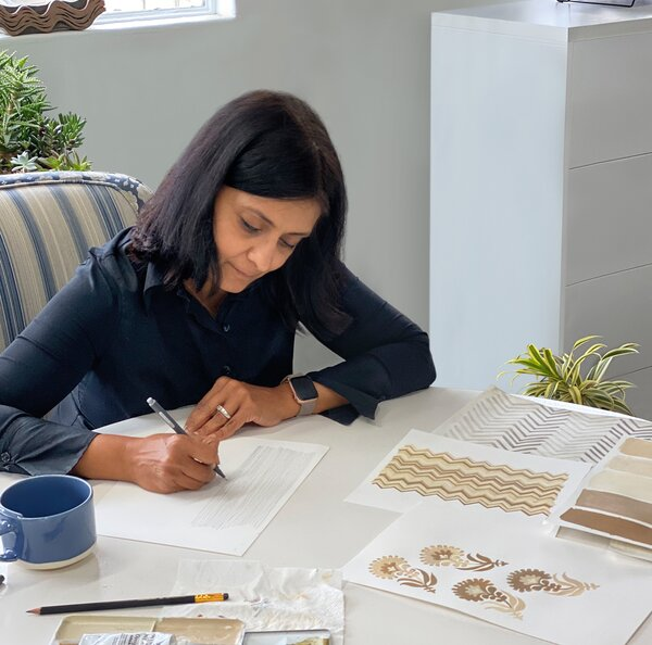 San Francisco designer Seem Krish (pictured) has become known for the artisanal methods and global influences that inform her textiles.