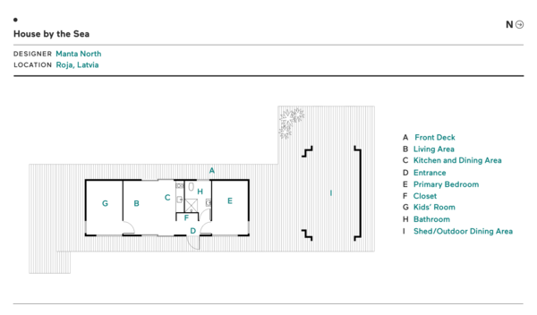 Floor Plan for House by the Sea