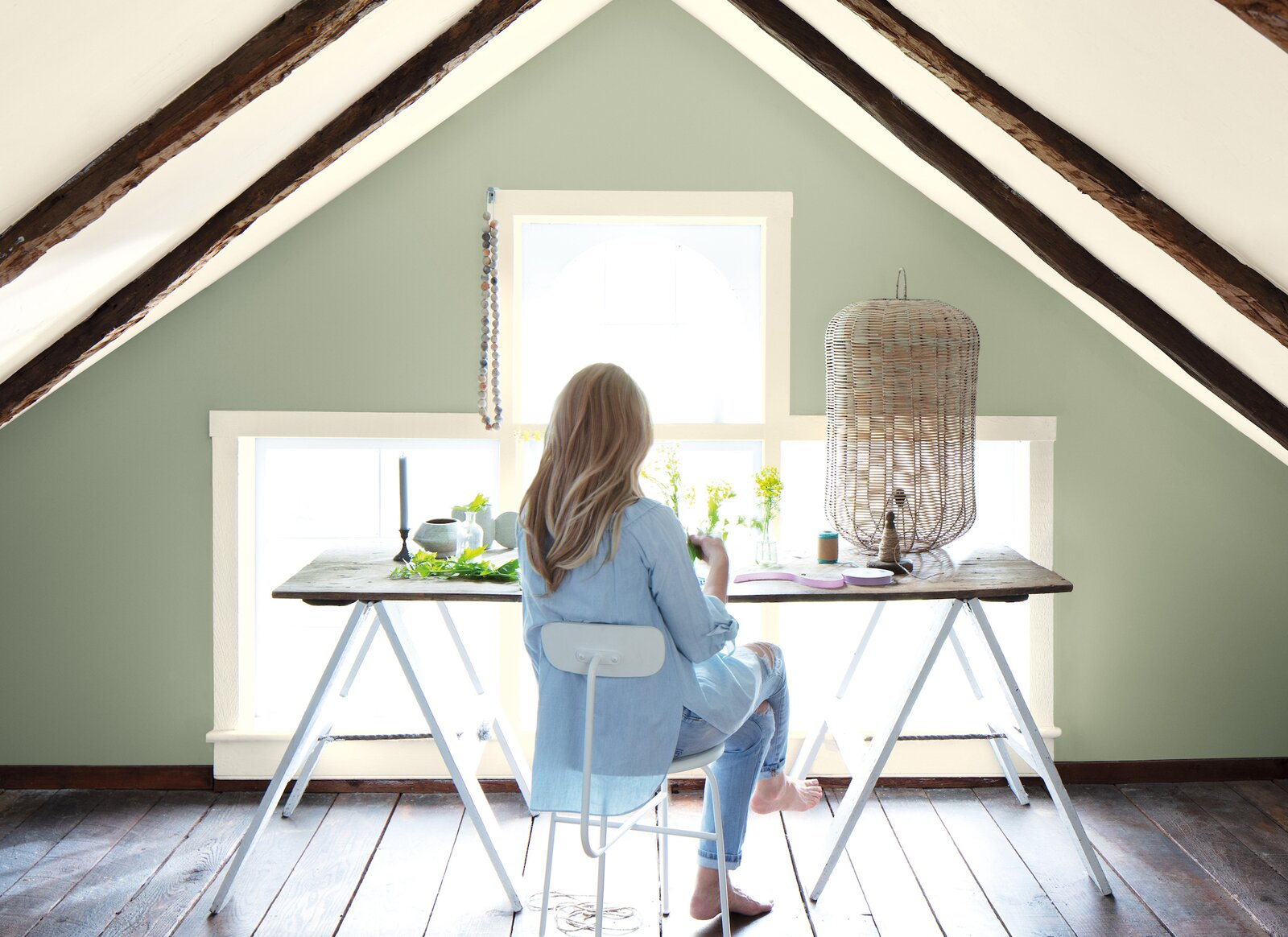 October Mist (1945), a gentle sage-green hue, is Benjamin Moore's 2022 Color of the Year.  Photo 2 of 7 in These Paint Colors Will Dominate Our Homes in 2022