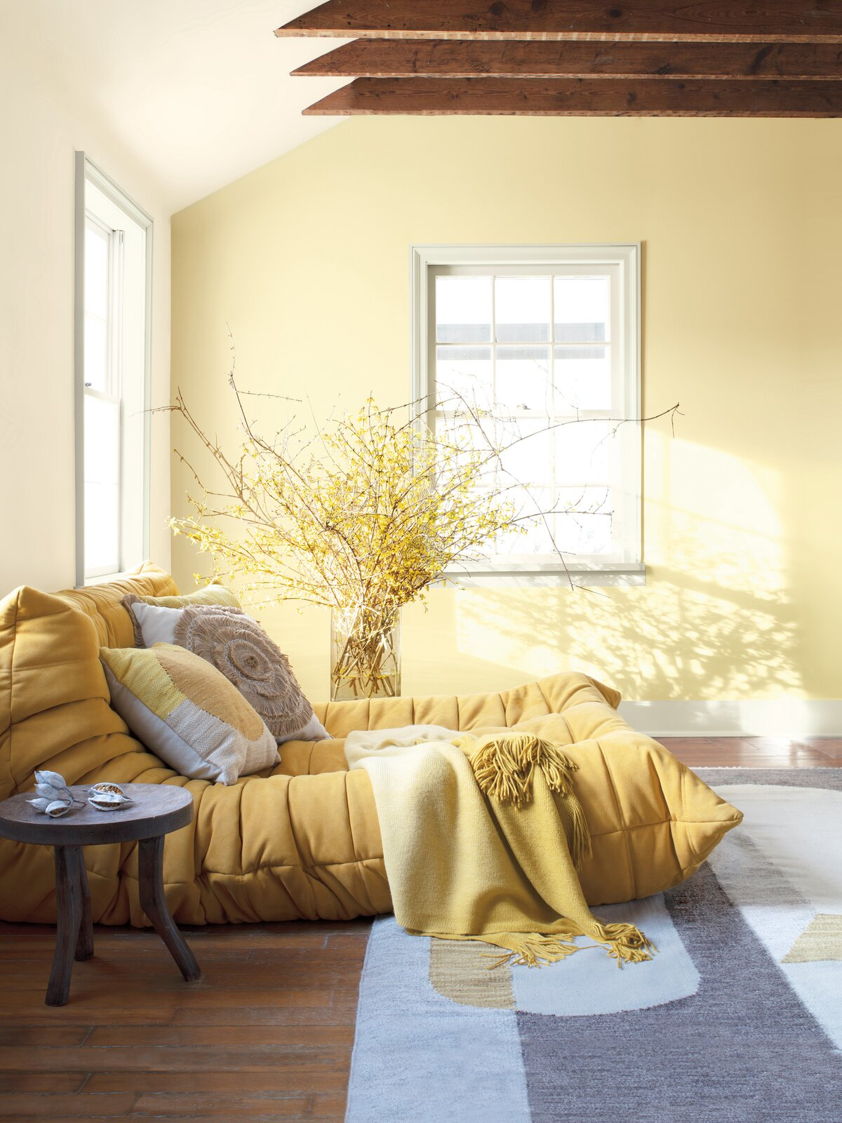 Pale Moon by Benjamin Moore is a soft and subtle yellow shade.  Photo 1 of 7 in These Paint Colors Will Dominate Our Homes in 2022