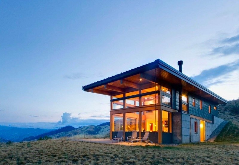 Exterior, Glass Siding Material, Cabin Building Type, and Concrete Siding Material Cabins from around the world  Photo 58 of 101 in 101 Best Modern Cabins from cabins