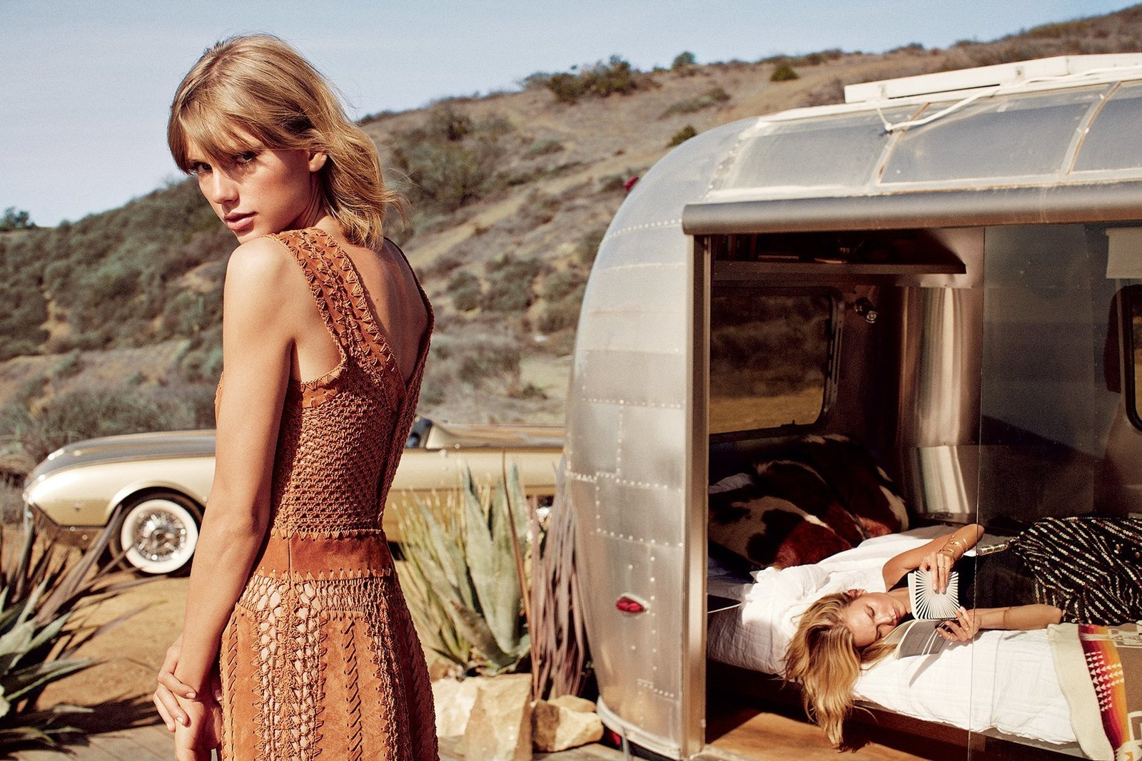 Big Sur With Taylor Swift and Karlie Kloss.  Photographed by Mikael Jansson, Vogue, March 2015    Best Photos from Airstream Lifestyle