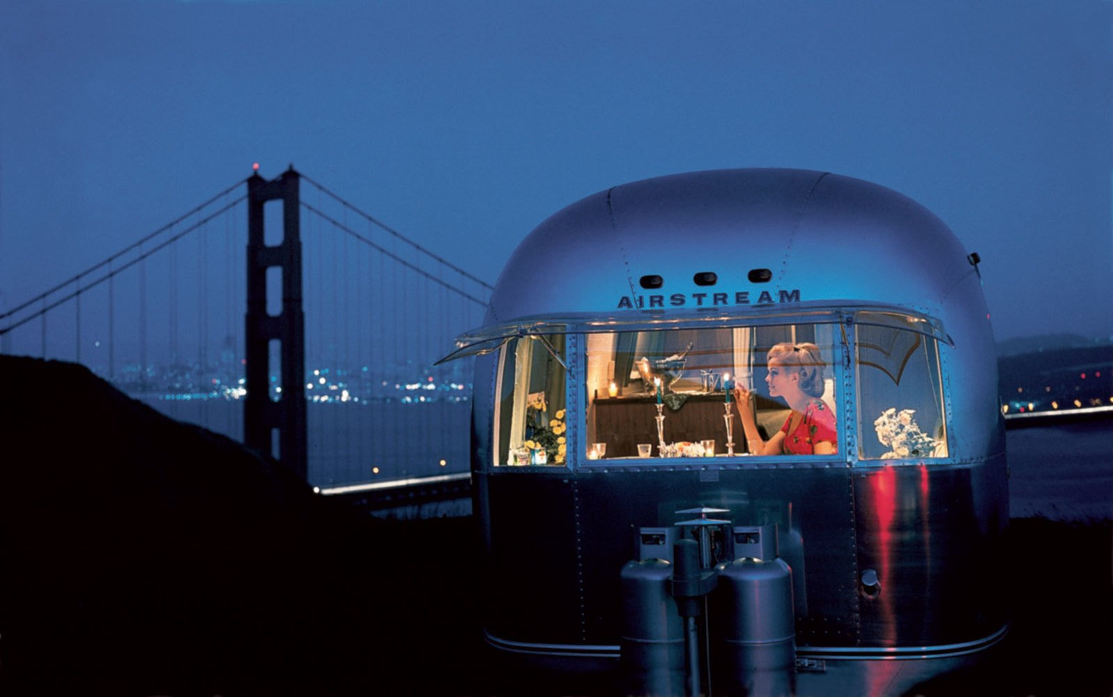 The Silver RV, Photo credit: Airstream, Inc. #airstream #sanfrancsico #goldengate #sf   Photos