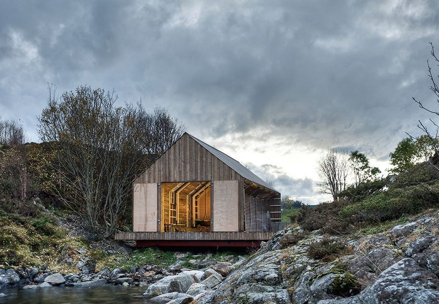 Exterior, Wood Siding Material, Boathouse Building Type, Gable RoofLine, and Cabin Building Type A Norwegian boathouse. Photo Courtesy of Pasi Aalto / TASCHEN #cabin #boathouse  Photo 59 of 101 in 101 Best Modern Cabins from Cabins & Hideouts