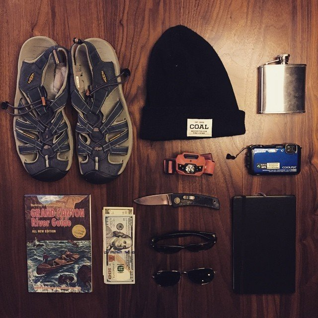 Essentials for a trip down the Grand Canyon / Colorado River.  Grand Canyon Expedition